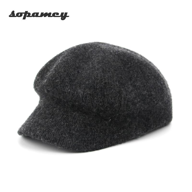 27fae26b595fc5 Winter Hat Berets New Wool Cashmere Womens Warm Brand Casual High Quality  Women's Vogue Knitted Hats For Girls Cap Wholesale Hat Beret Beret Winter  Hat ...