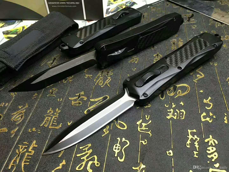 Mic tech dente-drago 3300 tre lame a doppio taglio 440C 57hrc coltello da tasca pieghevole coltello di sopravvivenza regalo di natale benchmad 1 pz