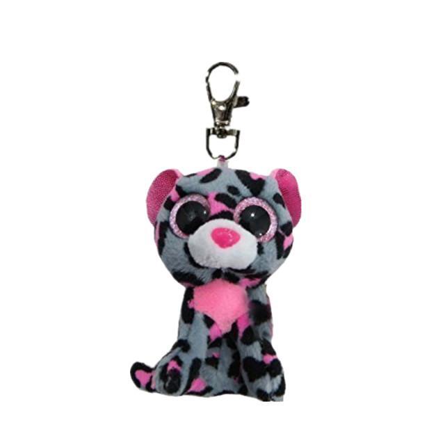 2019 Ty Beanie Boostasha Leopard Clip Keychain Plush Stuffed Animal