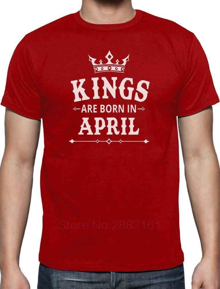 a7ee64a2f KINGS Are Born In April - Men's Birthday Gift T-Shirt Novelty Present  Adults Casual Tee Shirt
