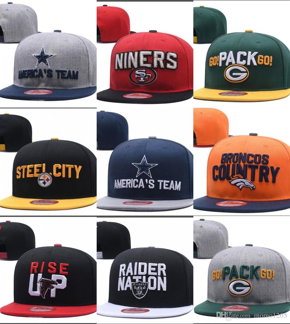 New Caps Football Snapback Hats 2018 Draft Cap All 32 Teams Hats Mix Match  Order All Caps In Stock Top Quality Hat Wholesale Wholesale Hats Caps  Online From ... a5aea4045ff