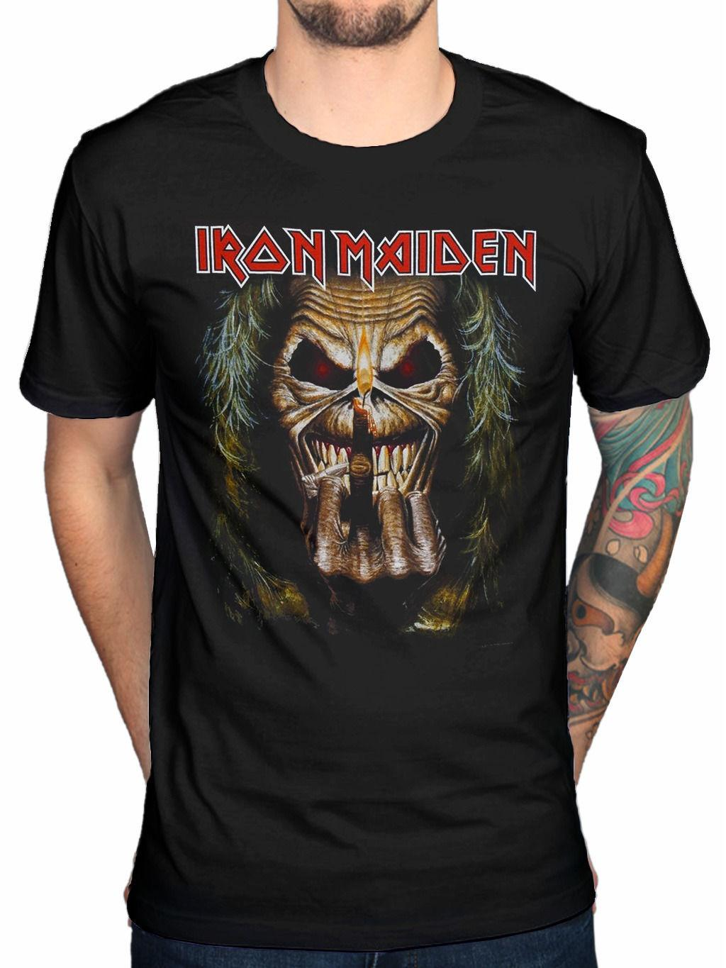 8e0eac99ce7 Official Iron Maiden Eddie Candle Finger T Shirt Piece Of Mind Killers  Final Shirt And Tshirt Create Your Own T Shirt Design From Wessyswaffy