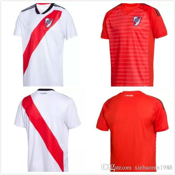 2019 2018 19 River Plate Home Soccer Jersey 2018 2019 River Plate Football  Shirts Rugby Jerseys 18 19 BALANTA CAVENAGHI Shirt Rugby Jerseys From ... acb592a17