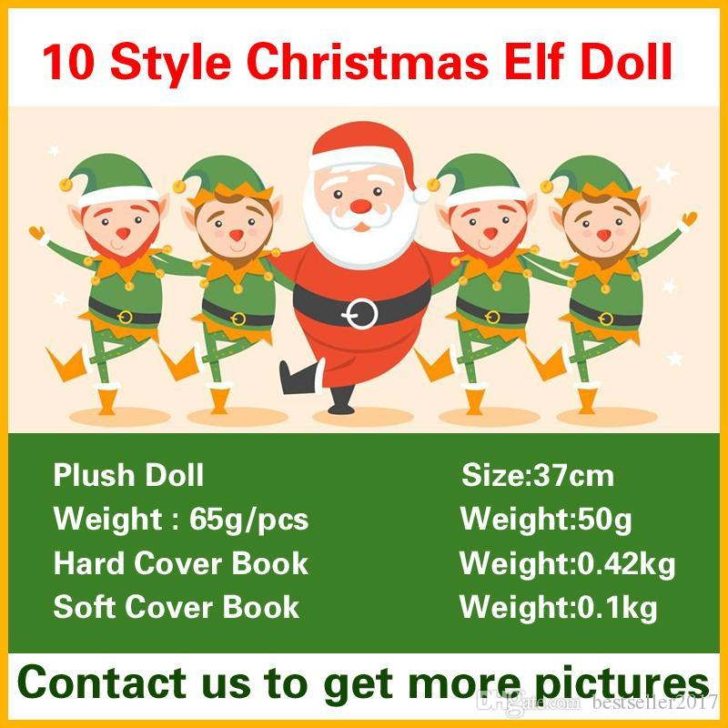 Christmas Elf Doll Plush Toys Boy Girl Elves Book Stuffed Dolls Kid Children XMAS Toys Decorations Gifts