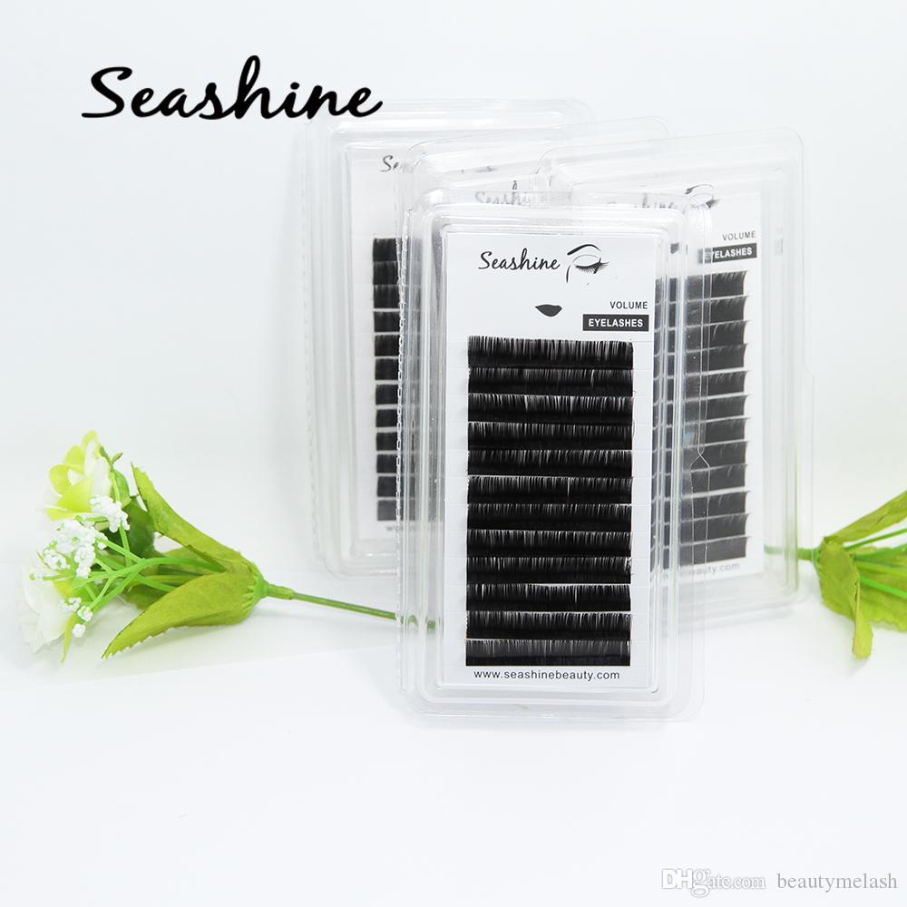 Seashine Cashmere Flat Ellipse Eyelash Extension 0.12/0.15/0.20 Thickness 8-15mm Length False Individual Silk Lash Eye Lash