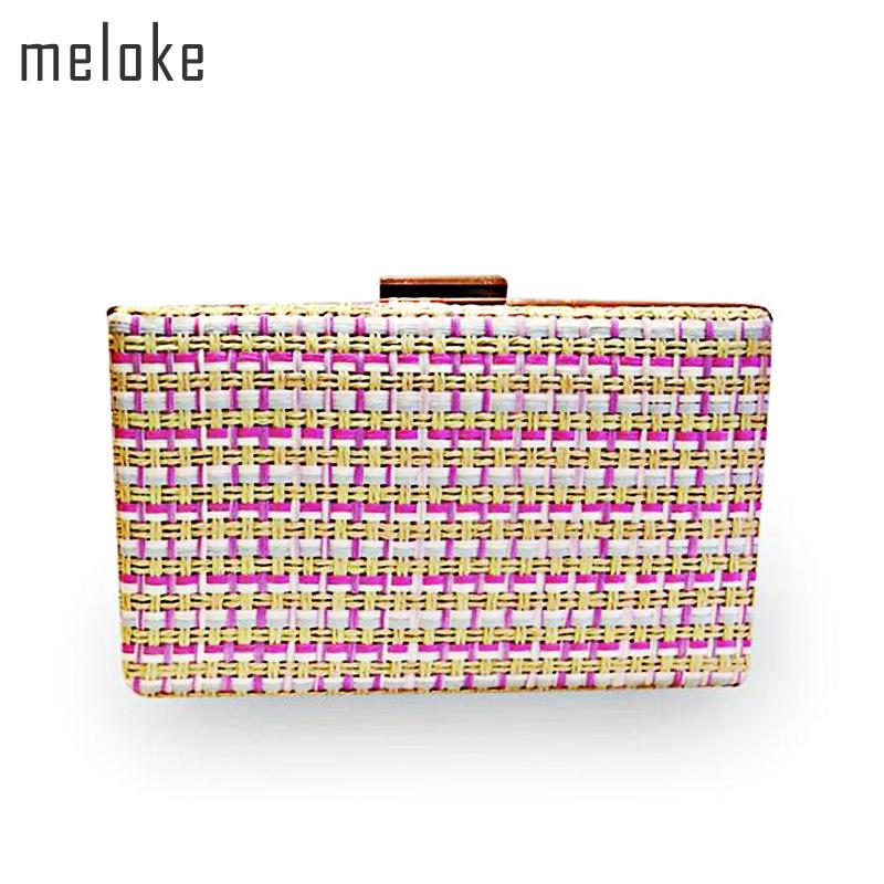 1b1516ecf3cc Meloke2018 Hot Weave Colorful Evening Clutch Bags Fashion Wedding Party Bags  For Girls Clutch Purse Drop Shipping MN754 Designer Bags Ladies Handbags  From ...