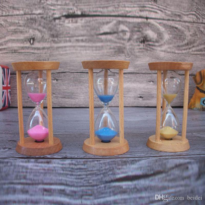 1 stück Kreative 3 minuten Sanduhr Timer Holztisch Sanduhr Timer für Kinder  Zähne Bürsten Geschenke Dekoration