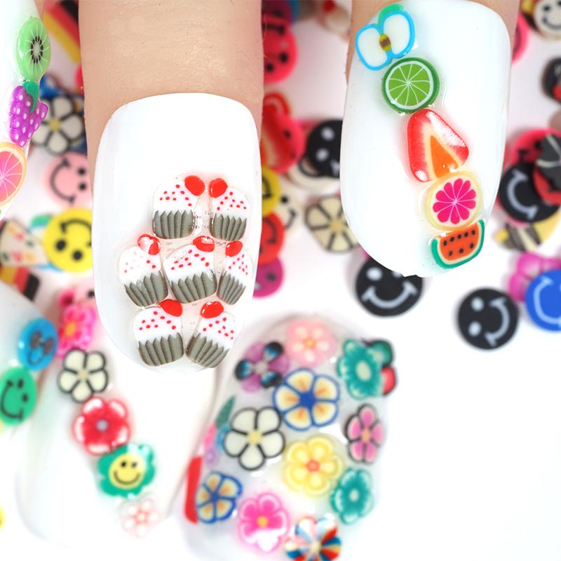 Box Fruit Nail Art Sticker Mix Colorful Design Fimo Slices Polymer ...