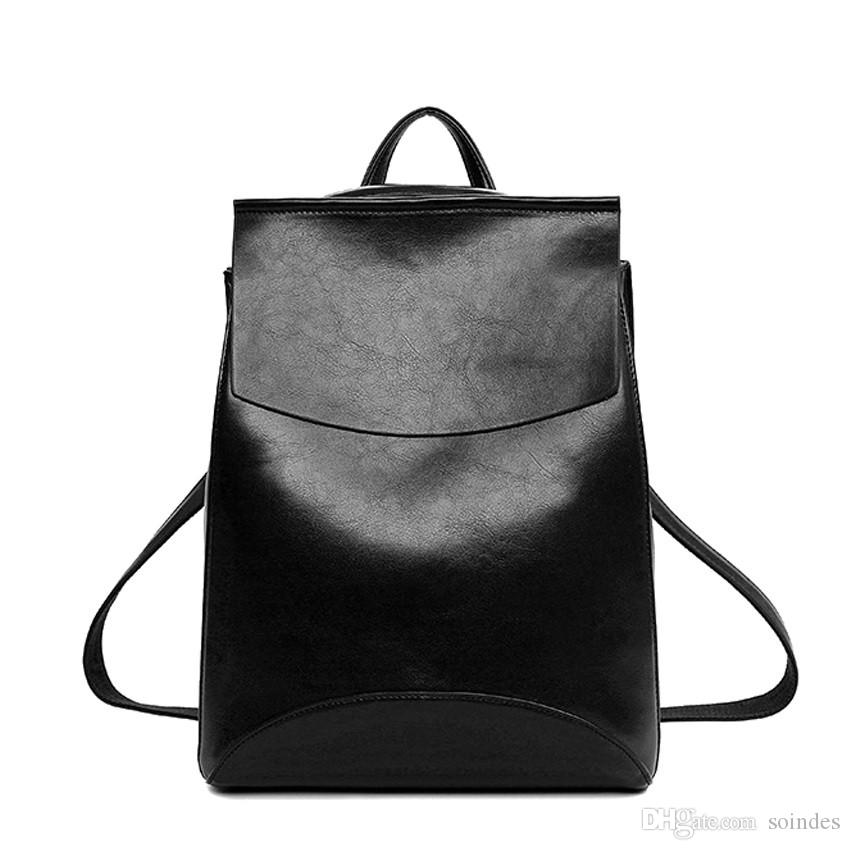3788b0a693a6 Winter Design PU Women Leather Backpack College Student High School Bags  For Ladies Girl Teenager Back Pack For Laptop Book Mochilas Jansport School  ...