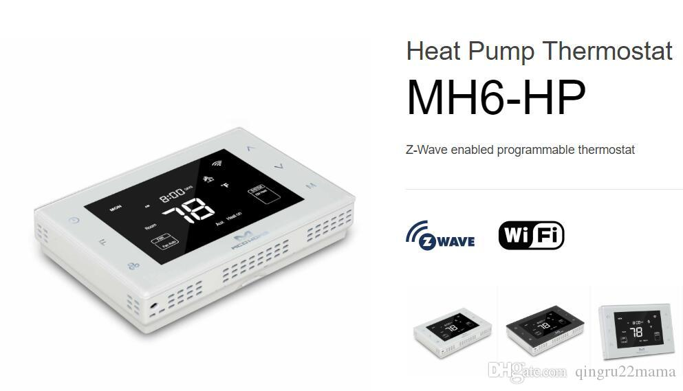 Smart Home MCOHOME Zwave PLUS Heat Pump Thermostat MH6-HP Z-Wave enabled  programmable thermostat