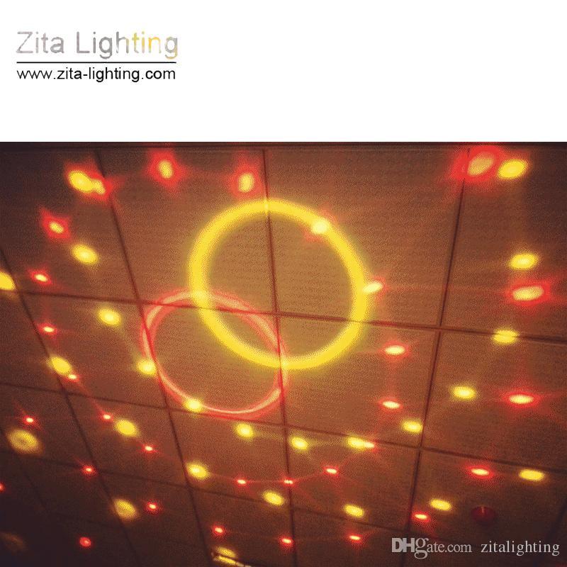 Zita Iluminação Mini Cristal Bola Mágica Movendo Rotating DJ Bola de Discoteca RGB LED Efeito de Iluminação de Palco Sounds Control DMX512 Festa de Dança de Casamento