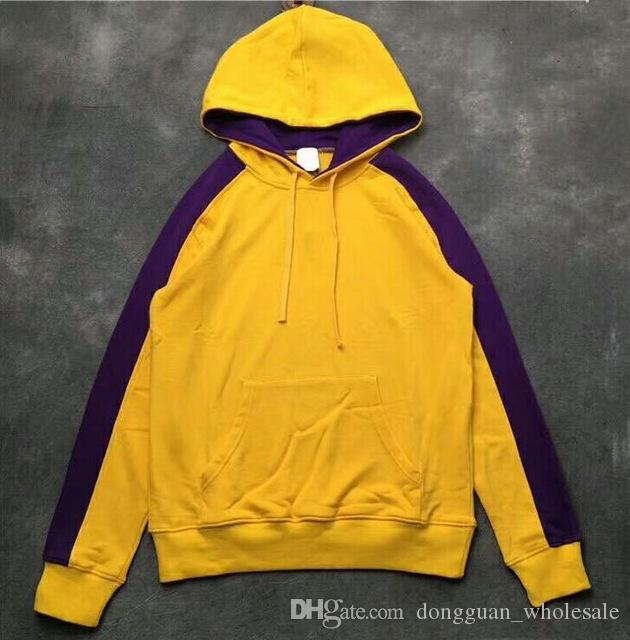 765a03568c5f9 2019 2019 Best Version Multicolor Splice Stripes Big Pocket Men Women  Pullover Hoodies Hip Hop Kanye Clothing Casual Sweatshirts From  Dongguan wholesale