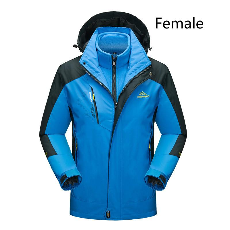 6bfe41ae7c 2019 Mountainskin Women S Winter Softshell Fleece Jackets Outdoor Sports  Waterproof Thermal Hiking Skiing Female Coats Men From Oyzhiming