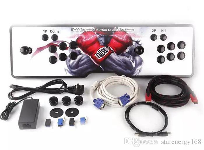 2pcs Design, amerikanischer Joystick, Die neuen Pandora Box 4S Arcade-Konsolen, 680 Programme, HDMI VGA-Ausgang, an den Computer angeschlossen, Hinzufügen von Pause und Beenden