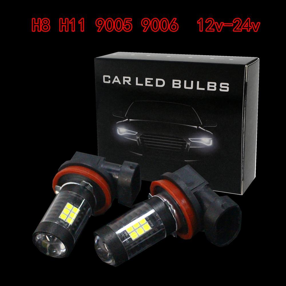 H8 H11 21W 6500K White Light LED Car Fog Light Driving Projector DRL Bulbs CLT_10E