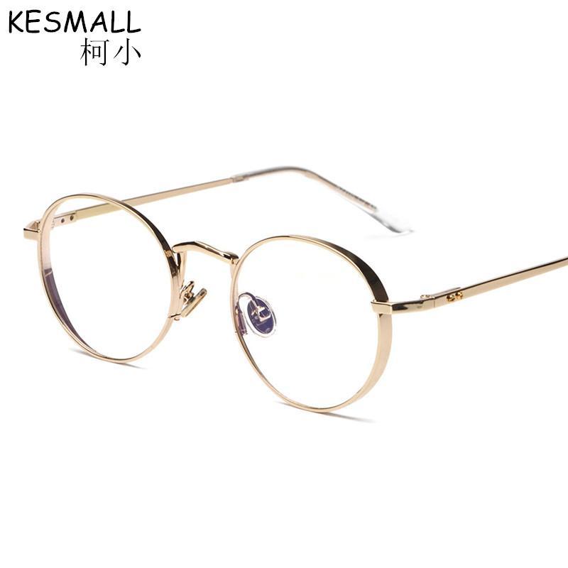 c182fce752e 2019 KESMALL 2018 Oval Shape Woman Alloy Frames Glasses Optical Myopia  Fashion Retro Vintage Unisex Eye Glasses Men Women BY102 From Tonic