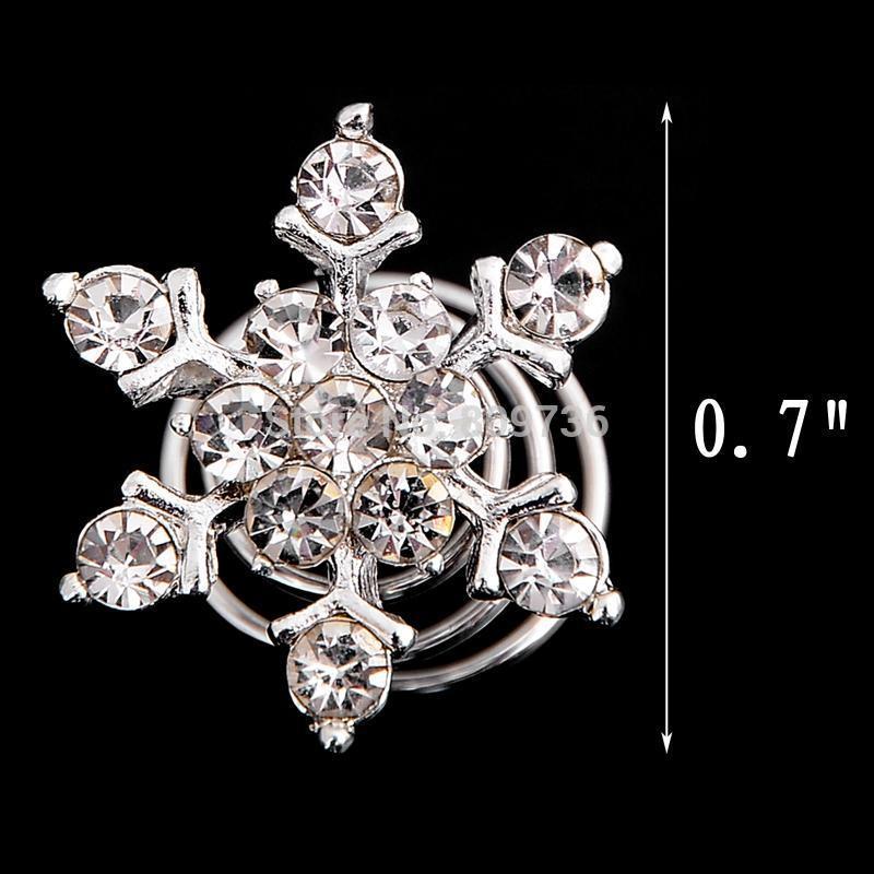 Crystal Pearl Wedding Bridal Hair Pins Twists Coils Flower Swirl Spiral Hairpins Fashion Women Jewelry Accessories