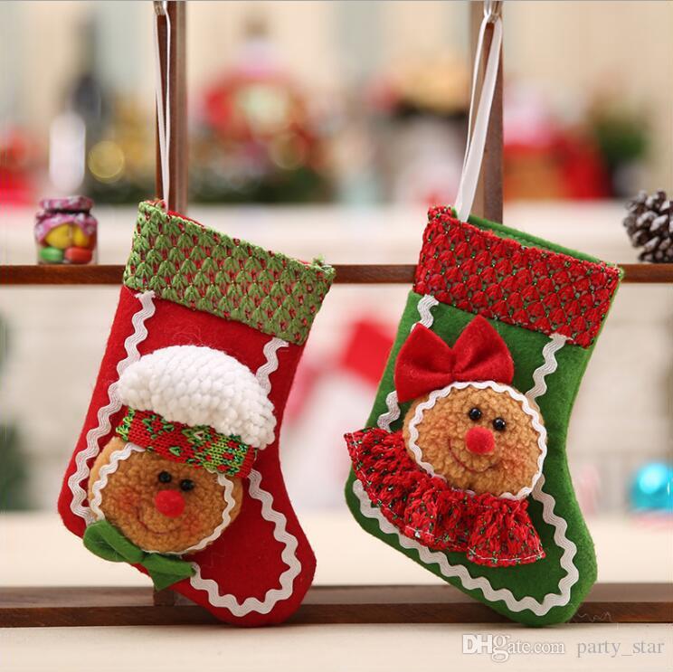Coole Weihnachtsfeier.Coole Der Keks Mann Weihnachtsbaum Strumpf Dekorationen Kinder Weihnachtsfeier Tuch Socken Dekoration Hause Weihnachtsschmuck