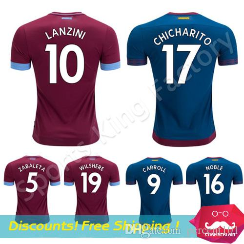 6823e478d West Ham Soccer Jersey 2019 West Ham United Football Shirts ...