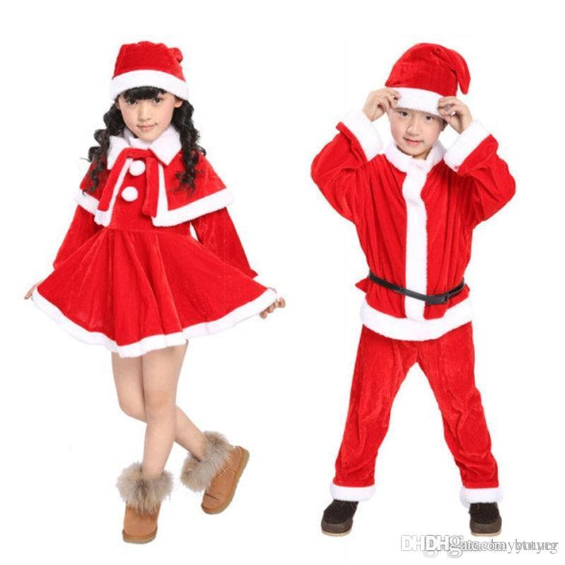 2019 Christmas Themed Dresses For Girls Red Christmas Suit O Neck Christmas  Cosplay Polyester Fibre Costume Ideas Long Sleeve For Kids From Botyer, ... - 2019 Christmas Themed Dresses For Girls Red Christmas Suit O Neck