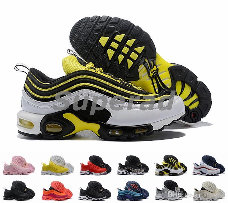 686e7be233dc6 Acquista New Nike Air Max TN Plus 97 Frequency Senape Silver Bullet Donna Uomo  Scarpe Da Corsa Air Sneakers 97s Just Do It Designer Althetic Scarpe ...