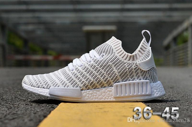 huge discount 5b3f7 e6015 PRIMEKNIT NMD_R1 STLT SHOES runner shoes Women Men R1 OG pk sneakers high  quality sale size 36-45 Free Shipping Youth