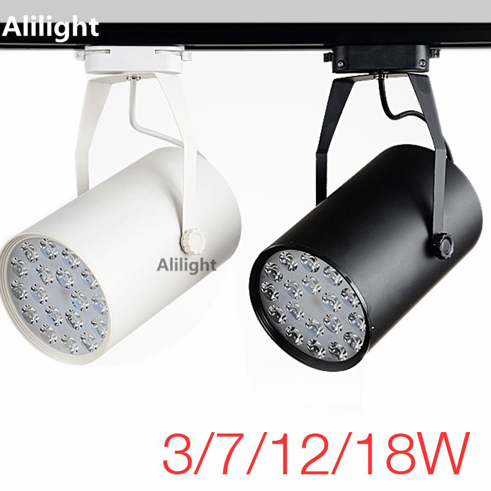 High Power LED Track Light Track Lighting Rail Lamp Aluminum Spotlight Lamp  For Commercial Store Office Home Lighting Fixtures