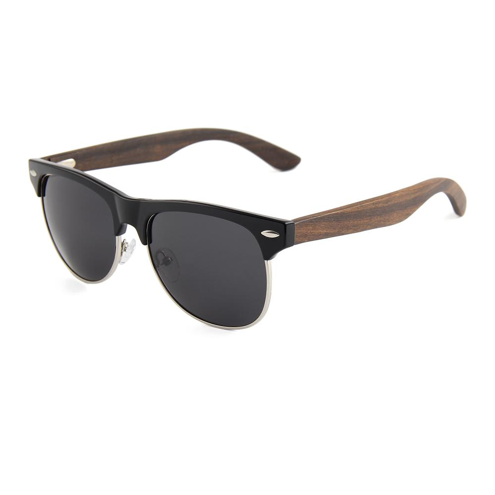 fcd0e53505 OEM Polarized With Classic Styles Lens Black Half Frame Ebony Wood  Sunglasses Sports Sunglasses Cheap Prescription Sunglasses From Ziyingli