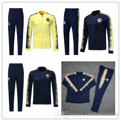 7530c66e1 2019 2018 2019 Mexico Club America Jacket Training Suit 18 19 GUERRON  CALDERON CASTILLO Football Cougar UNAM Football Jackets Tracksuit Set From  ...