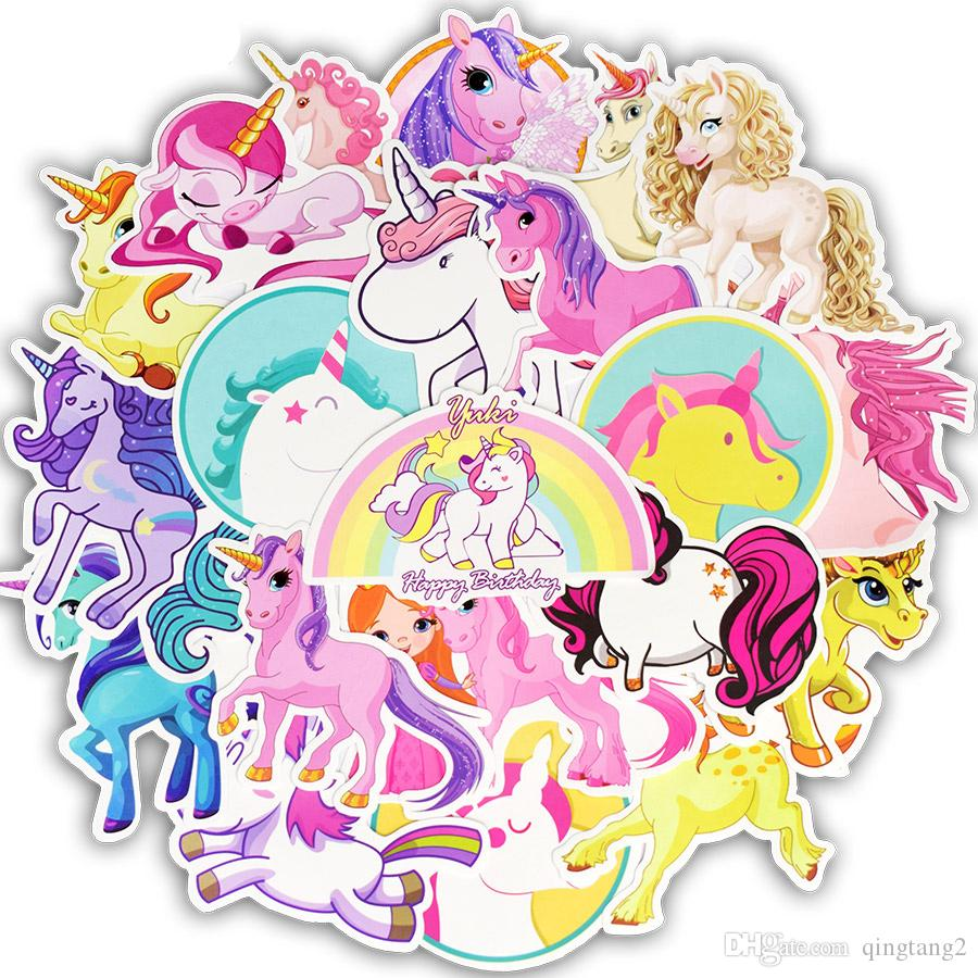 Waterproof Unicorn Animal Cute Stickers Toys For Kids Decals Teens