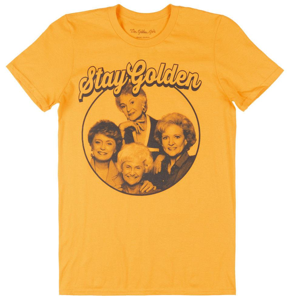 0fd65725fca Details Zu THE GOLDEN GIRLS STAY GOLDEN T SHIRT MENS YELLOW GOLD RETRO TV  TEES ABC STUDIOS Funny Unisex Casual Gift Cool T Shirt Online T Shirt 24  Hours ...