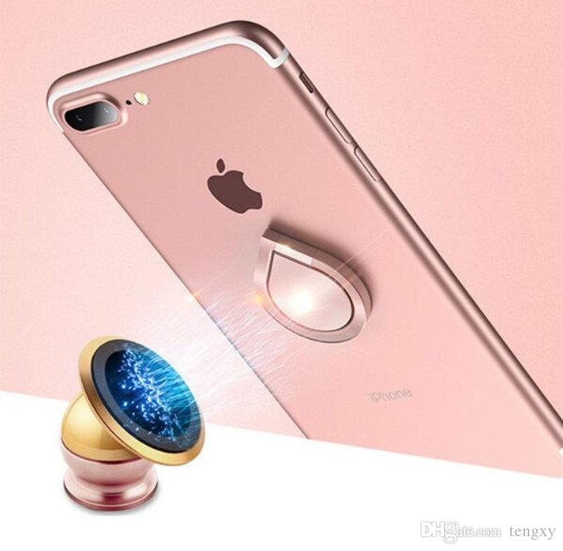 Moda waterdrop 360 derece Dönücü Halka Tutucu Metal Fidget Taşınabilir telefon Tutucu Smartphone iPhone 7 için Standı Artı Samsung cep telefonu