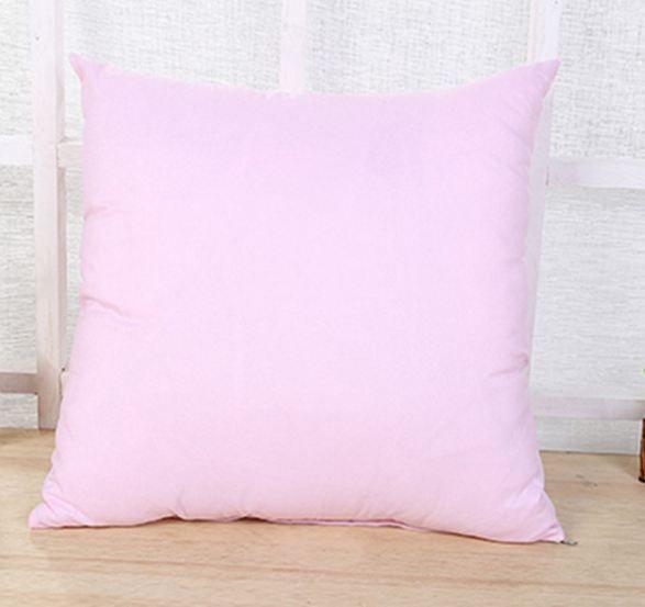 Home Sofa Throw Pillowcase Pure Colors Polyester White Pillow Cover Cushion Cover Decor Blank Pillow Case Christmas Decor Gift