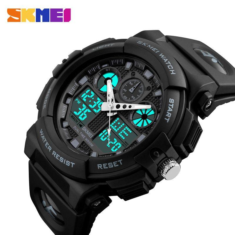 ab494dd9263b Compre Relojes Deportivos SKMEI Para Hombre Reloj Cronógrafo Digital Doble  Hora Relojes Deportivos 50M Watwrproof Week Relogio Masculino 1270 A  18.99  Del ...