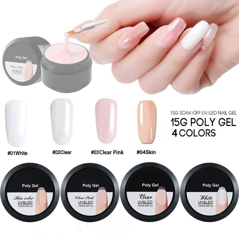 UV Gel Poly Gel Nail Builder Poligel Nails Kit Extension Acrylic ...