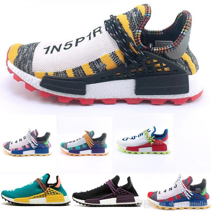 new concept ff406 a70b4 Scarpe Italia NMD Human Race Hu Trail Pharrell Williams Peace 2019 Nuovo  Mens Designer Sport Scarpe Da Corsa Uomo Sneakers Donna Casual Scarpe Da  Ginnastica ...
