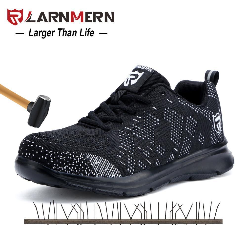 Acquista 2019 LARNMERN Scarpe Antinfortunistiche In Acciaio Uomo Leggere  Anti Graffio Anti Piercing Lavoro Costruzione Calzature Sneakers  Traspirante Scarpe ... 94ad1e6bd0d