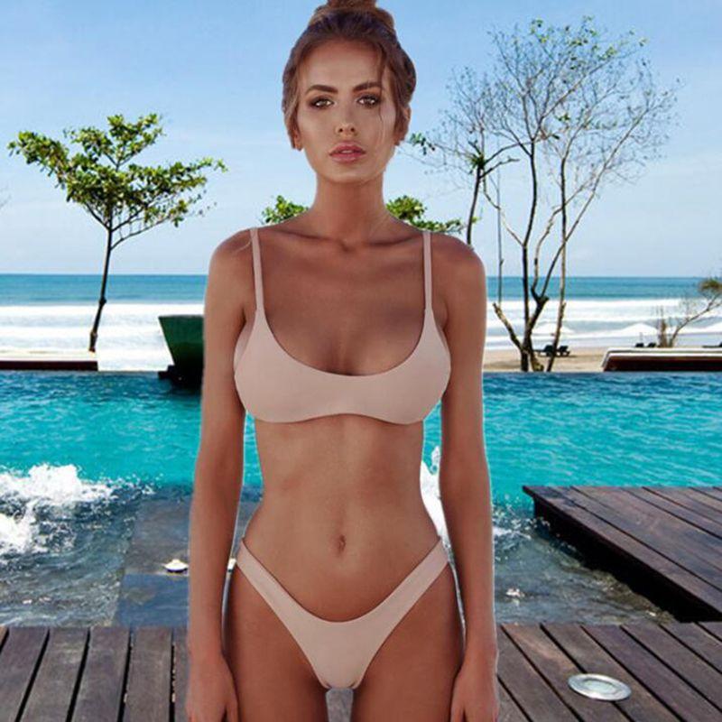 97579ebf86bf Sexy t-pants swimwear for women fashion summer beach women bikini new strap  backless plus size women swimsuit free shipping