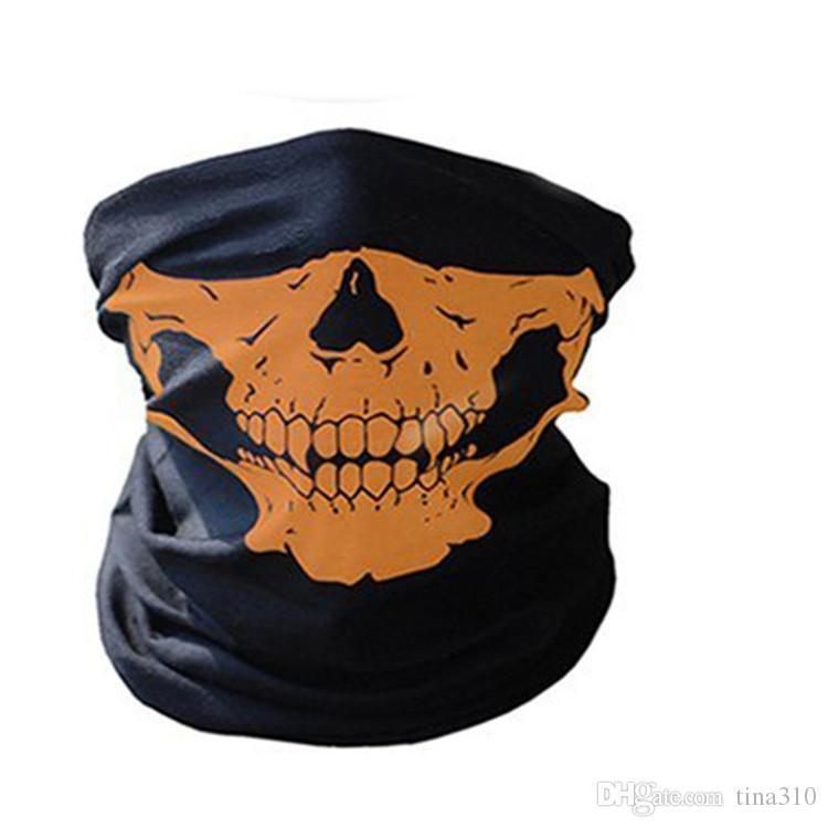 En plein air sans soudure magique crâne écharpe Visage Masque Écharpe Vélo Équitation masques chaud Foulard En plein air visage partie masques IB634
