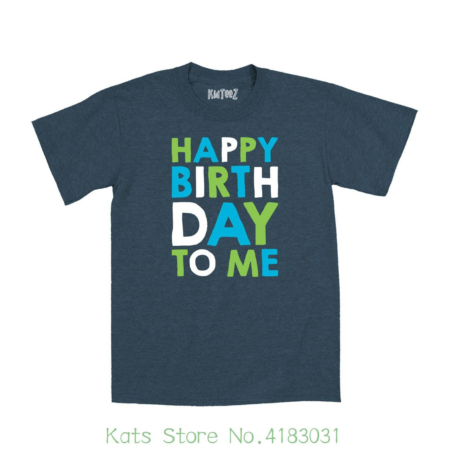 Instant Message Happy Birthday To Me Stacked Blue Green Fun Kids Cute Novelty Toddler T Shirt Cartoon Character Buy Tshirts The Who Shirts From Katsstore