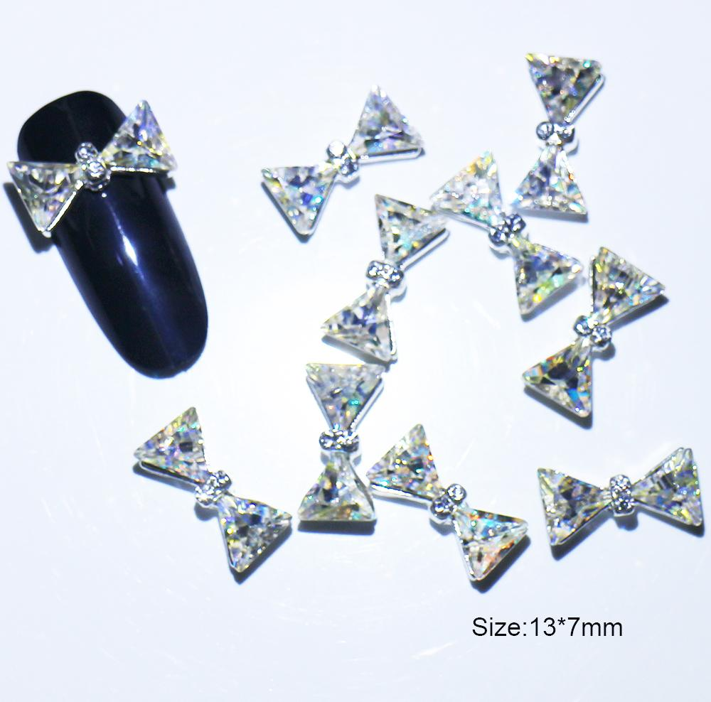 ff810bab9a 10pcs/lot, 13*7mm, Nail Art 3d Multicolored Diamonds Iridescent Rainbow  Colors Rhinestones For Nail Tips Decorations#117