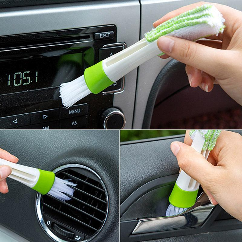 Blinds Cleaning 1pc Multifunctional Keyboard Cleaner Microfiber Car Vent Brush Dusting Blinds Cleaning Brushes Double Ended Mini Duster