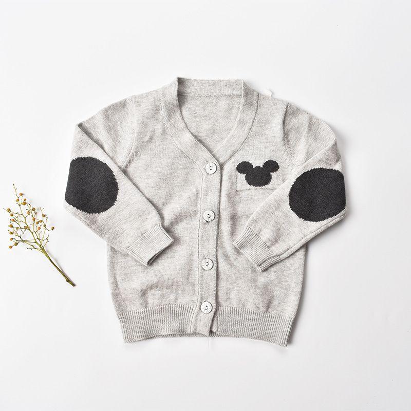 edcd475564a1b4 9M-24M Baby Jungen Pullover 2017 Kinder Pullover für Kinder O-NECK Baby  Kleidung stricken Pullover Baumwolle Kleinkind Strickjacken infantil