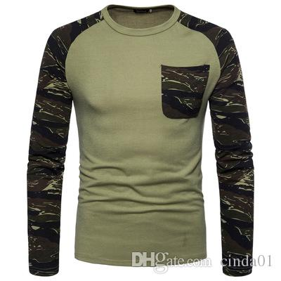 5c0c65e5 Raglan Design Men T Shirts Long Sleeves Camouflage Summer Casual Homme  Cotton Crew Neck Long Tees Clothes Black Shirts Long Sleeve Shirt From  Cinda01, ...