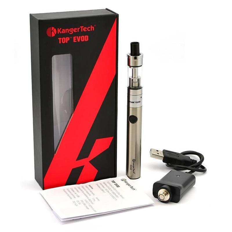 Kangertech Topevod Starter Kit con 1.7ml Kanger Top Evod Tapa de llenado Atomizador 650 mah Batería Evod VOCC Pluma subvod Vape