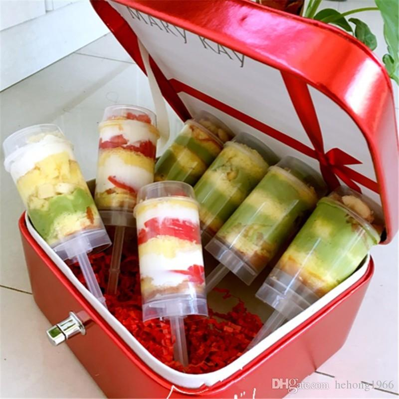 Twist Cup Plastic Material Transparent Pushing Cylinder Desserts New Baking Mould Cake Mold Push Up Containers 0 35sj V