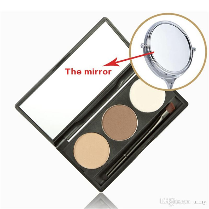 2018 makeup MELOISION Eyebrow palette eyebrow powder +1 eyebrow cream 5 styles 6g Cosmetics palette with Mirror/Brush DHL shipping