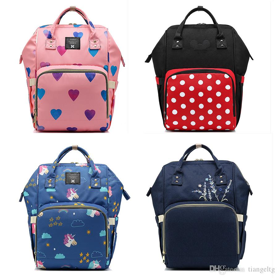 6f6bf39836f5 2019 New Upgraded Diaper Backpacks 11 Designs Hearts Unicorn Mummy Bags  High Capacity Diaper Bags Outdoor Travel Bags Organizer Express Shipment  From ...