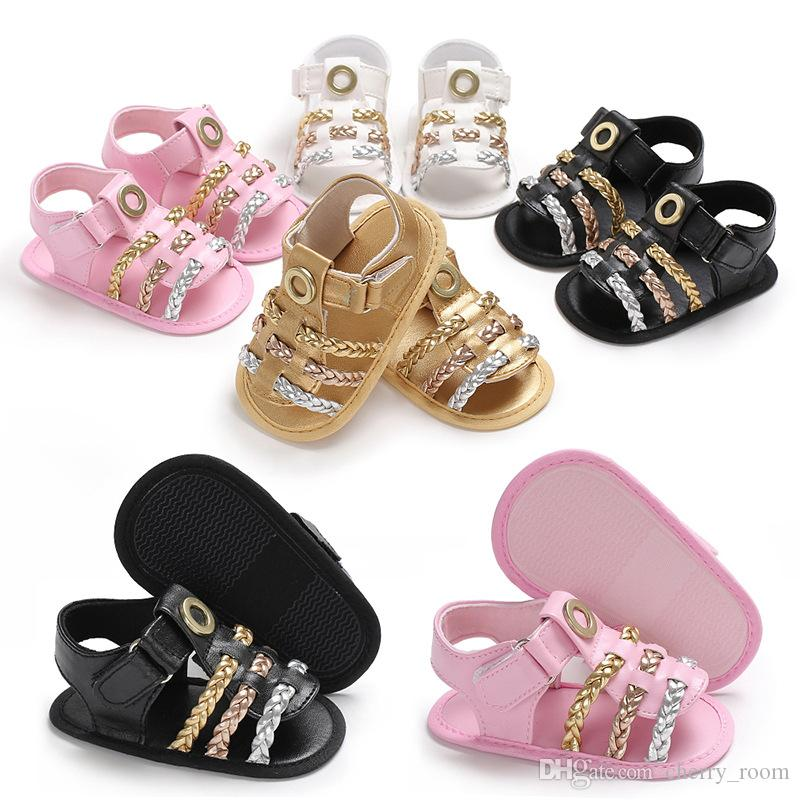c0a42392c8e2e5 New Summer 2018 Girls Shoes Infant Kids Fashion Weave Soled Anti ...