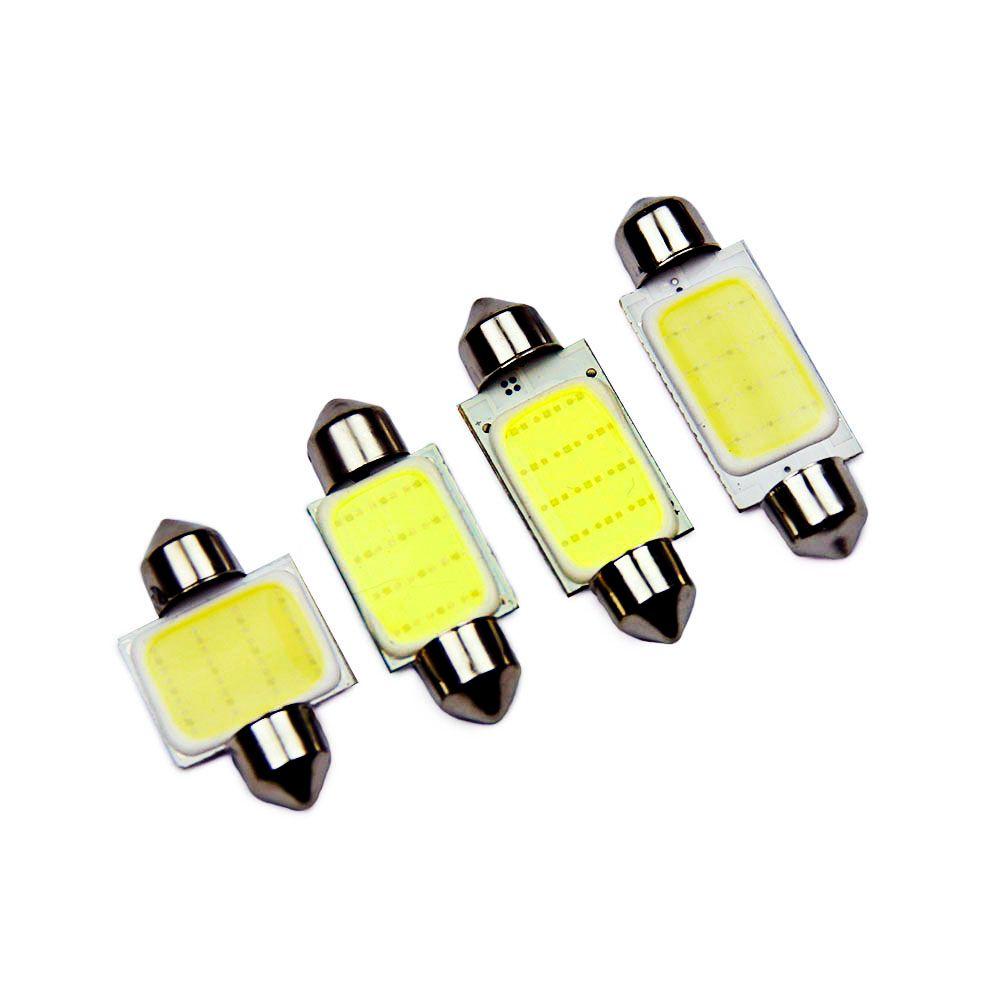 10 adet / grup 31mm36mm 39mm 41mm Araba COB 1.5 W DC 12 V İç Araba LED Ampuller Lamba İç Dome Işıklar Dış plaka ışıkları